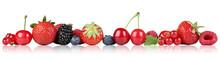 Beeren Früchte Erdbeeren Himb...