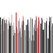 Abstract Vertical Infographics Gray, Black And Red Stripes Backg