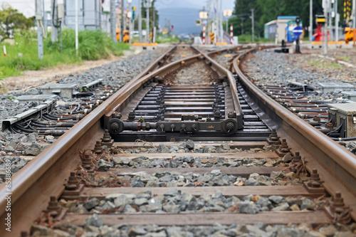 Fotografie, Obraz  鉄道の分岐ポイント