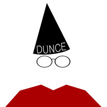 Man With Dunce Cap And Wire Frame Glasses