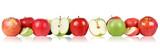 Czerwone i zielone jabłka