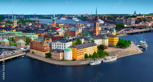 Panorama of Stockholm, Sweden Canvas Print