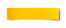 Yellow Paper Banner Isolated O...