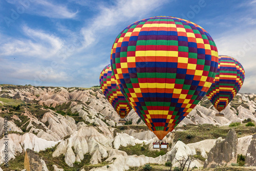 Hot air balloons sunset, Cappadocia, Turkey Canvas Print