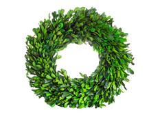 Wreath Made Of Boxwood Leaf Wr...