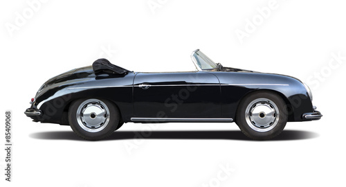 Classic sport cabrio car isolated on white - 85409068