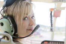 Beautiful Copilot On A Helicop...