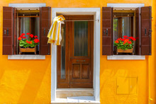 Colorful Houses On The Burano,...