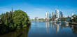 Panorama of Frankfurt in the morning light