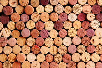 FototapetaWall of Wine Corks