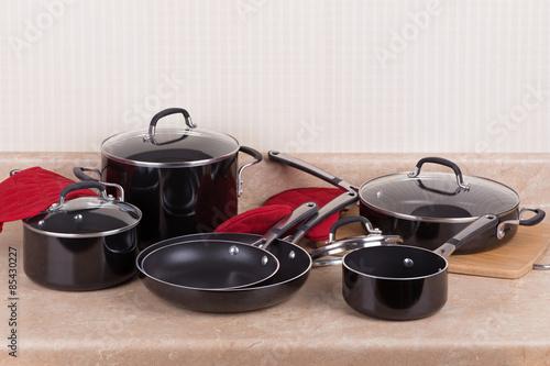 Fotografía  Juego de utensilios de cocina