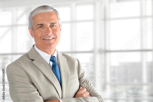 Fotografie, Obraz  Senior Businessman Arms Folded