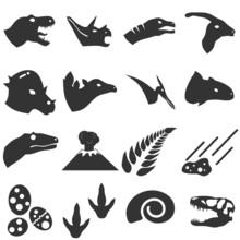 Dinosaur Icon Set Vector