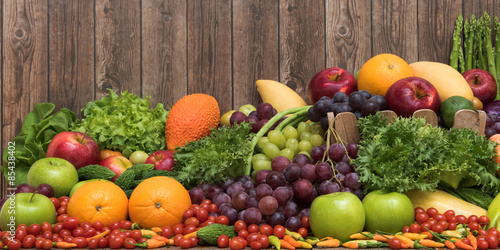 Foto op Aluminium Vruchten Nutritious fruit and vegetables organic for healthy