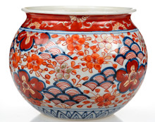 Japanese Vase With Hand-painte...