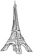 Vector illustration of Tower Eiffel.