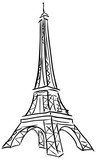Fototapeta Eiffel Tower - Vector illustration of Tower Eiffel.