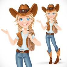 Beautiful Girl In A Cowboy Hat...