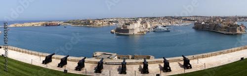 Stickers pour porte Fortification Fort Saint Ange de Birgu vu depuis les canons de La Valette