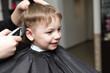 kid at the barbershop