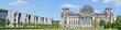 Leinwanddruck Bild - Reichstag Building -Stitched Panorama