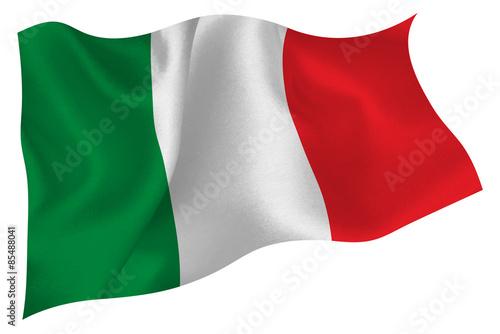 イタリア  国旗 旗 Fotobehang