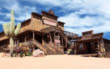Old Wild West Desert Cowboy To...
