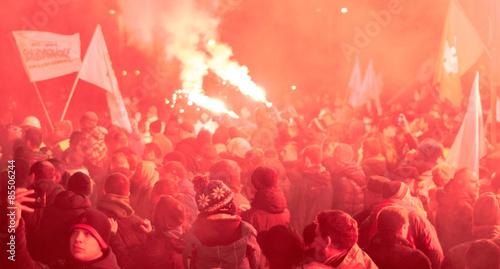 Fotografia Strajk górników