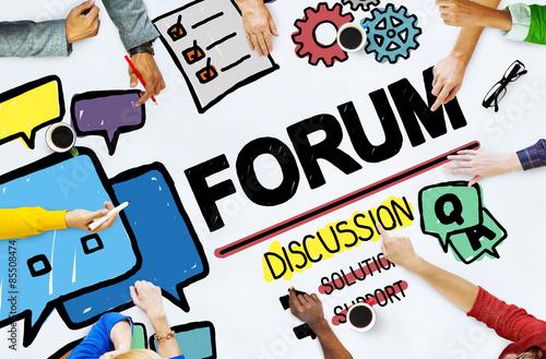 Fotografía  Forum Chat Message Discuss Talk Topic Concept
