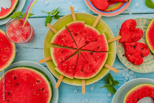 Watermelon - the delights of watermelon Wallpaper Mural