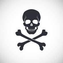 Skull And Crossbones Sign.