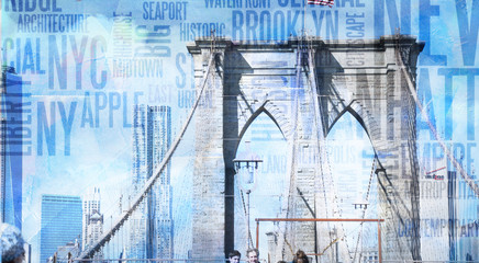 Obraz na Plexi Mosty NY Brooklyn Bridge