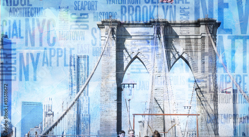 NY Brooklyn Bridge - 85518672
