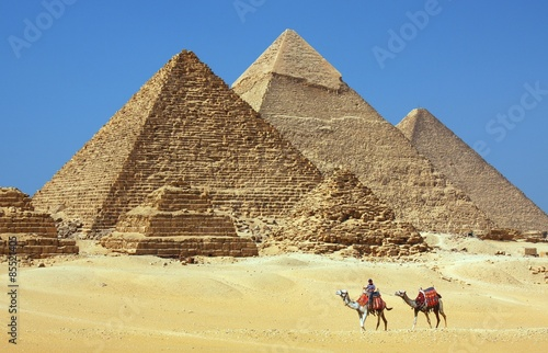 Foto op Aluminium Egypte The pyramids in Egypt