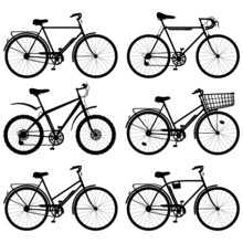 Vector Bicycle Pictogram