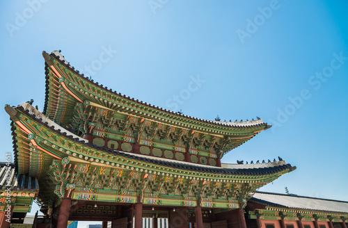 Photo  Heungnyemun Gate in Gyeongbokgung Palace in Seoul South Korea