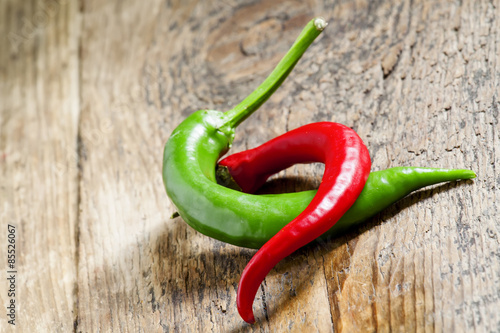 red-and-green-chili-peppers-selective
