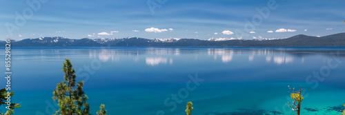 Aluminium Prints Green blue Lake Tahoe panorama