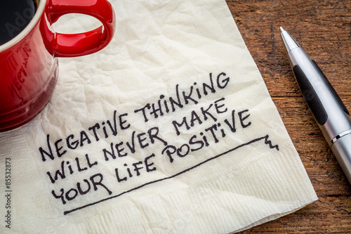 Fotografie, Obraz  negative thinking and posifitive life