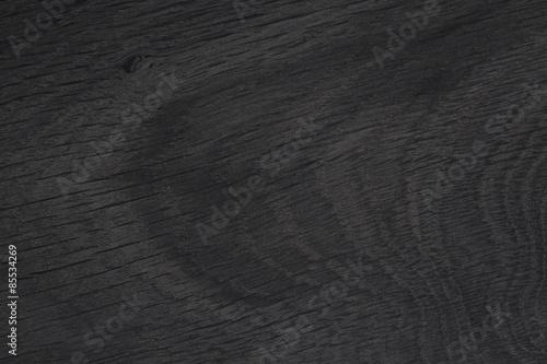 Tuinposter Stenen Black wood texture. Old natural oak.
