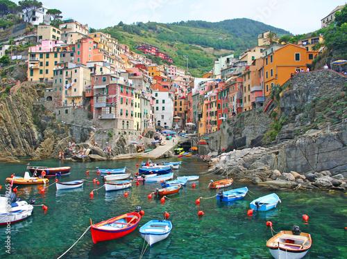 Riomaggiore in the Cinque Terre in Italy