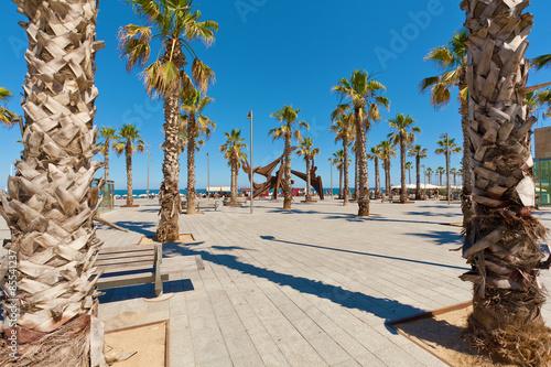 Poster Tunesië Barceloneta beach