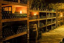 Wine Archive In Wine Cellar, Czech Republic
