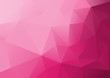 canvas print picture - Abstract Low Poly Pink Background