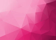 Abstract Low Poly Pink Backgro...