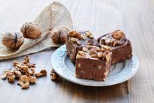 Chocolate Fudge With Walnuts
