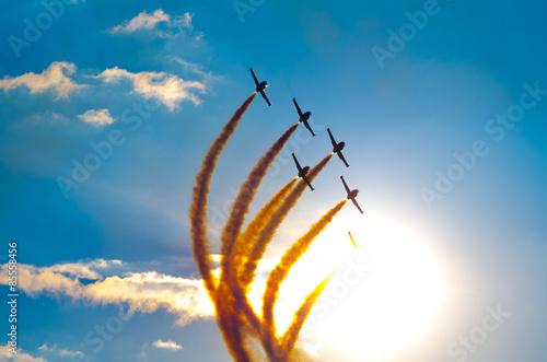 fototapeta na szkło Formacja samolot Airshow