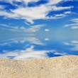 Sun and island beach. Summer shot