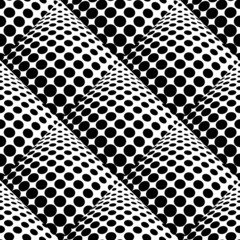 Panel Szklany Iluzja Design seamless monochrome dots background