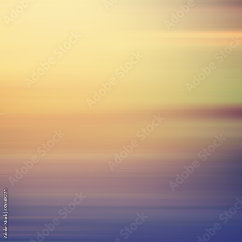 Poster Mer coucher du soleil Vector blurry soft background.